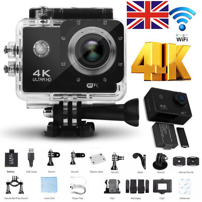 Ultra 4K Action Camera HD 1080P Waterproof Sports Camera With WIFI Camcorder UK