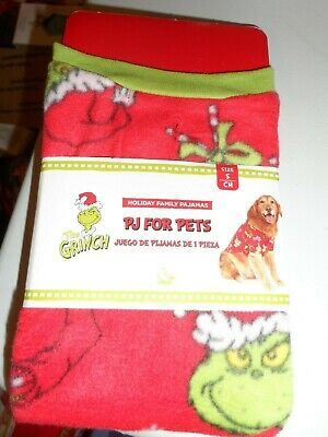 Dr. Seuss THE GRINCH PJ's For Pets Dog Christmas Sweater Holiday Size Med--NWT
