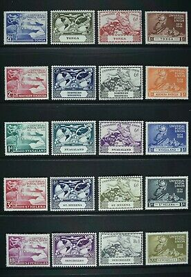 BRITISH COLONIES, KGVI, a collection of five different UPU sets, UM / MM Cat £17