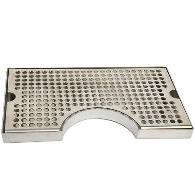 12 inch Surface Mount Kegerator Beer Drip Tray Stainless Steel Tower Cut OuY3O8