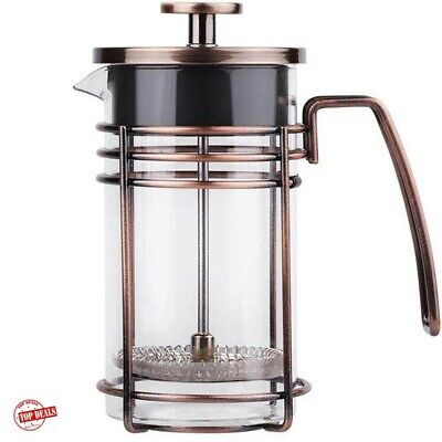 French Press Coffee Maker Tea Stainless Steel Filter Cafetiere 34 Oz 1 Liter NEW