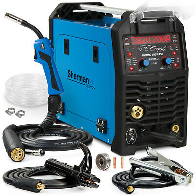 MIG Welder inverter 200A Aluminium Pulse welding machine SHERMAN DIGIMIG 200