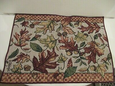 Autumn leaves, Susan Winget, tapestry style placemat, tray cloth