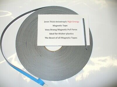 Magnetic Tape,12.7mm x 2mm Thick Strong High Energy Secondary Window Glazing Kit
