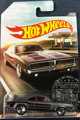Hot Wheels - 1969 Dodge Charger (Silver) [8/10 Vintage American Muscle
