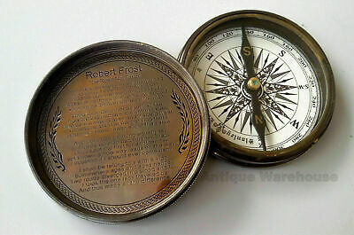 Lot of 10 Collectible Nautical Brass Navigation Compass Vintage Poem Compass