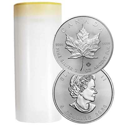Lot of 25 - 2020 $5 Silver Canadian Maple Leaf 1 oz Brilliant Uncirculated Full