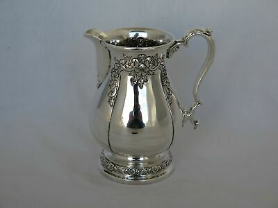International Sterling Silver Hand Chased Prelude Large Creamer