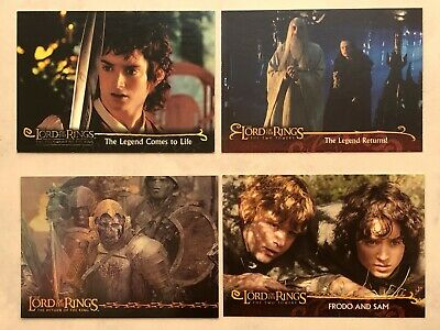 Lord of the Rings 4 Assorted Trading Cards