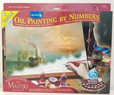 Brand New Oil Painting By Numbers The Masters The Fighting Temeraire Reeves