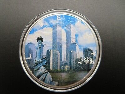 2001 American Silver Eagle Colorized September 11th ASE 1 Troy Oz .999