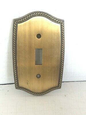 Vintage Brass Broadway Supply Co. toggle Switch Plate Cover