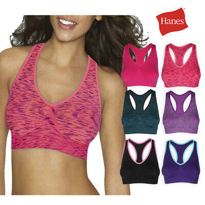 Hanes Women's G39F All Day Comfort Racerback Seamless Sports Bra