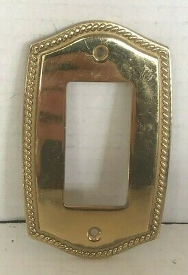 2003 LHMC Victorian Style Switch Plate Covers Braid Polished Brass