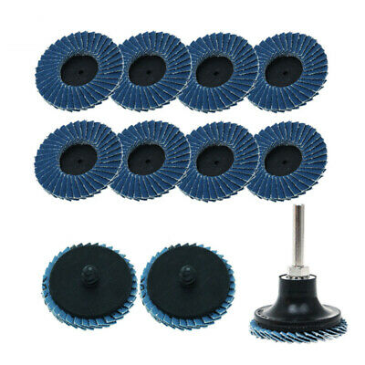 Dark Blue Sanding wheels Abrasive Roll Grinding With holder Industrial