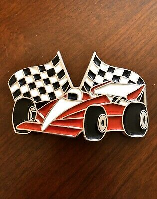 Racing Checkered Flags Speed Shop Flag Belt Buckle 485