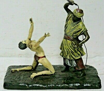 Very Interesting Bergman Bronze Slavery Figure Group - Very Rare Namgreb L@@K