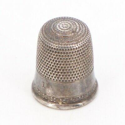 VTG Sterling Silver - SIMON BROTHERS Sewing Thimble Size 1 - 3g