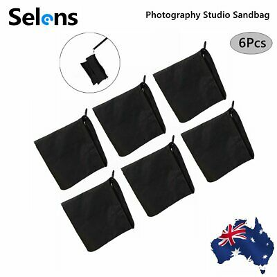 6PCS Photography Studio Sand Bags Sandbag Weight Ballast For Boom Light Stand AU