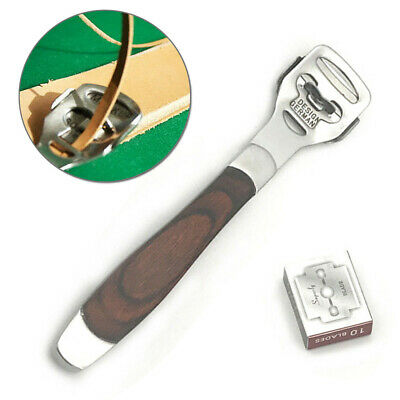 DIY Leathercraft Stainless Steel Skiving Edge Skiver Cutter Thinning Leather