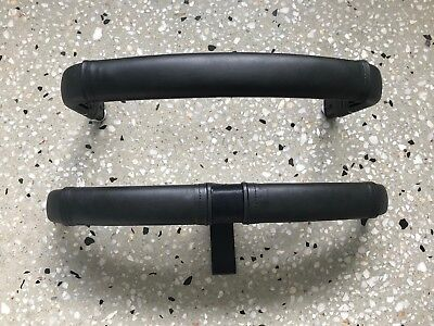 BUGABOO BUFFALO Leather Handle Bars/Belly Bar Covers (Black Smooth)