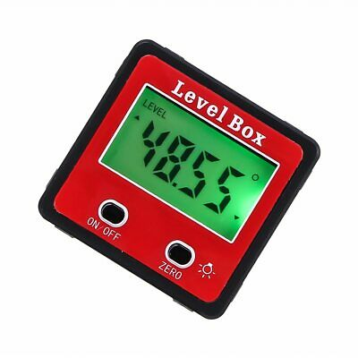 Nosii Mini Red Precision Digital 2-key Inclinometer Level Box Protractor Angle F