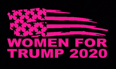 President Donald TRUMP 2020 SUPPORT STICKER WOMEN FOR TRUMP DECAL WINDOW BUMPER
