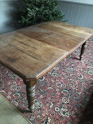 Antique Mahogany Victorian Dining Kitchen Table. Extendable.
