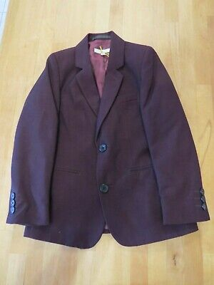 John Lewis Heirloom Collection Boys' Party Jacket, Burgundy age 6 blazer