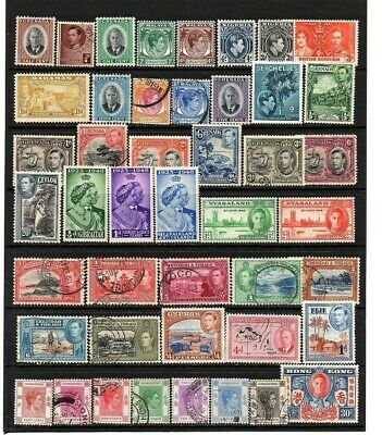 British Commonwealth King George Vi Mixture Very Useful Lot  Unchecked