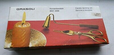 Vintage Grasoli Kerzenbesteck Candle Tending Set In Box, Candle Cutter &...