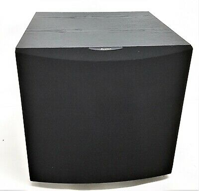Boston Acoustics CR400 Powered Subwoofer Black, Amplified w/ Crossover & Gai