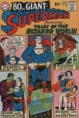 Superman #202 (1968) 80 Page Giant 42 Tales Of The Bizarro World!