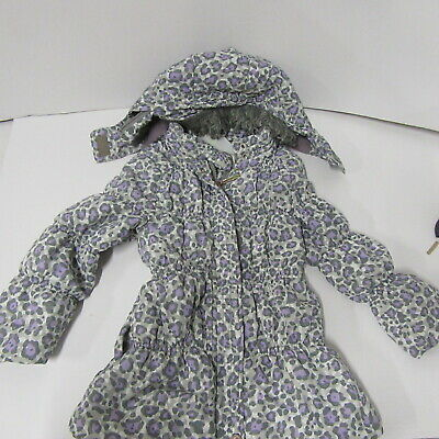 Lilica Ripilica Girls Hooded Anorak  Lilac Grey Coat   Age 4 Years