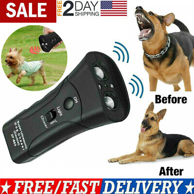 Ultrasonic Anti Dog Barking Trainer Petgentle LED Light Gentle Chaser Sonics