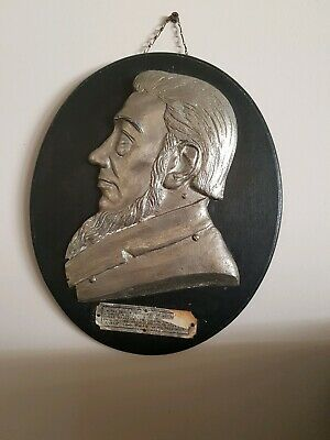 Antique South African Paul Kruger Plaque - Very Rare