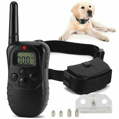 Large 328 Electric Dog Shock Collar With Remote Waterproof  Yard Pet Training