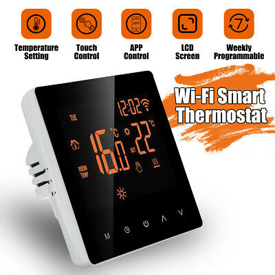 WiFi SMART TERMOSTATO CONTROLLO PROGRAMMABILE TOUCHSCREEN LCD CRONOTERMOSTATO