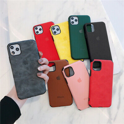 Shockproof Matte PU Leather Soft Case For iPhone 11 Pro XS Max XR 7 8 Plus Cover