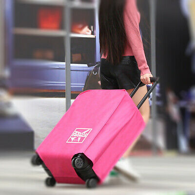 FOLPPLY Pink Background Cactus Luggage Cover Baggage Suitcase Travel Protector Fit for 18-32 Inch
