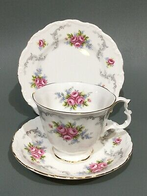 "Royal Albert "" Tranquility "" Tea Cup, Saucer & Plate Trio"