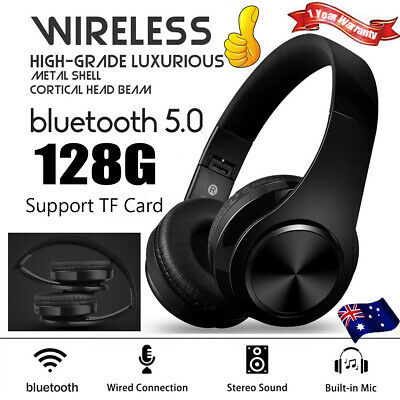 Wireless Bluetooth 5.0 Headphones Noise Cancelling Headset Over Ear With Mic 🔥