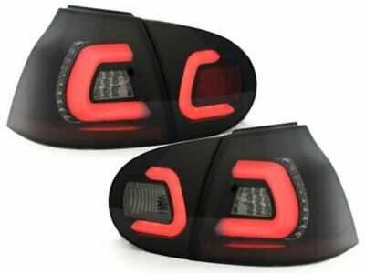 OFFER LTI LED Tail Lights VW GOLF 5 V 03-09 Black Smoke IT LDVWA4EM XINO IT