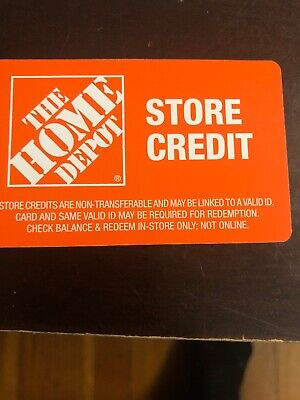Home Depot Store Credit worth 692.00