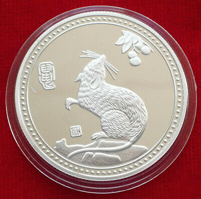 Wonderful Chinese Lunar Zodiac Year of the  Rat  Silver Coin