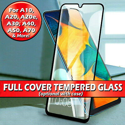 For Samsung Galaxy A10/A20e/A30/A40/A50/A70 Tempered Glass Screen Protector Case