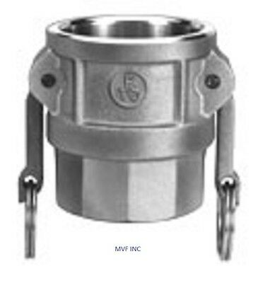 """2"""" Type D Camlock Female Coupler x Female NPT Stainless Hose Fitting D200SS304"""