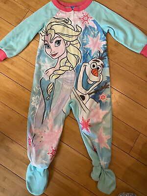 Nwt New Disney Frozen Footed Blanket Sleeper Pajamas Elsa Olaf Aqua Cute Girl
