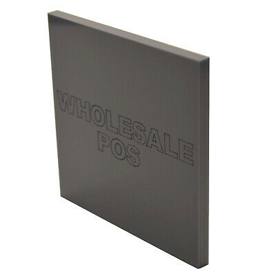 Anthracite Grey Acrylic Sheet Perspex Panel 297mm x 210mm x 3mm Sheet Sawn Edges