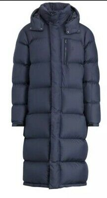 Polo Ralph Lauren Navy Hooded Ripstop Down Coat UK Size Large BNWT